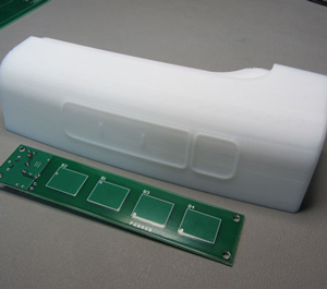 touch button interface on a pcb