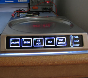 lighted kitchen appliance touch panel