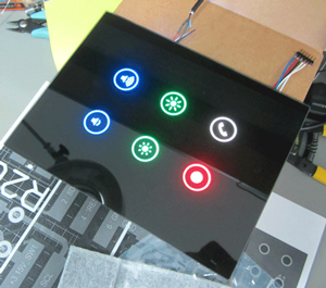 touch panel with rgb led backlighting