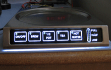 aerospace appliance touch switch interface