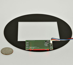 pcb touch interface with glass overlay