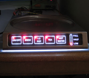 touch panel with uniform led  backlighting and indicator lights