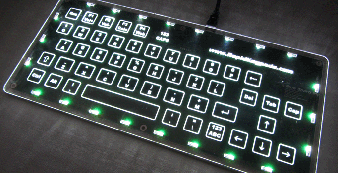 custom capacitive touch computer keyboard