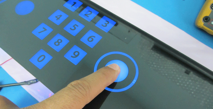 glass capacitive touch kiosk control panel